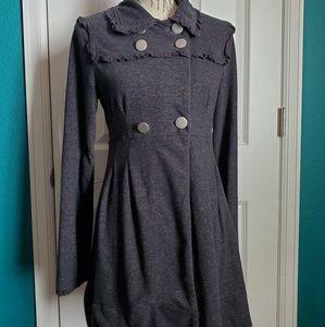 Stella Starr Gray Button Coat